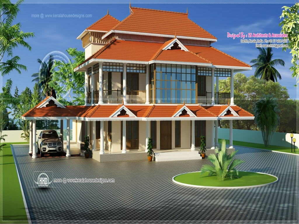 Kerala traditional style homes modern house in kerala for Kerala home builders