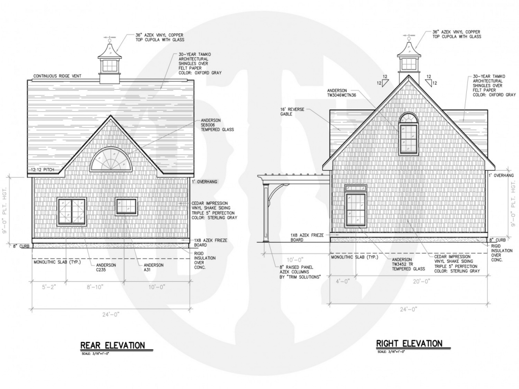 Lake House Plans With Rear View Lake House Plans With