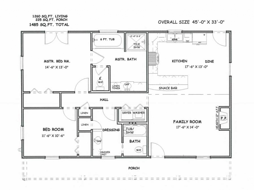 Master bedroom and bath floor plans two bedroom 2 bath for Master bedroom and bath plans
