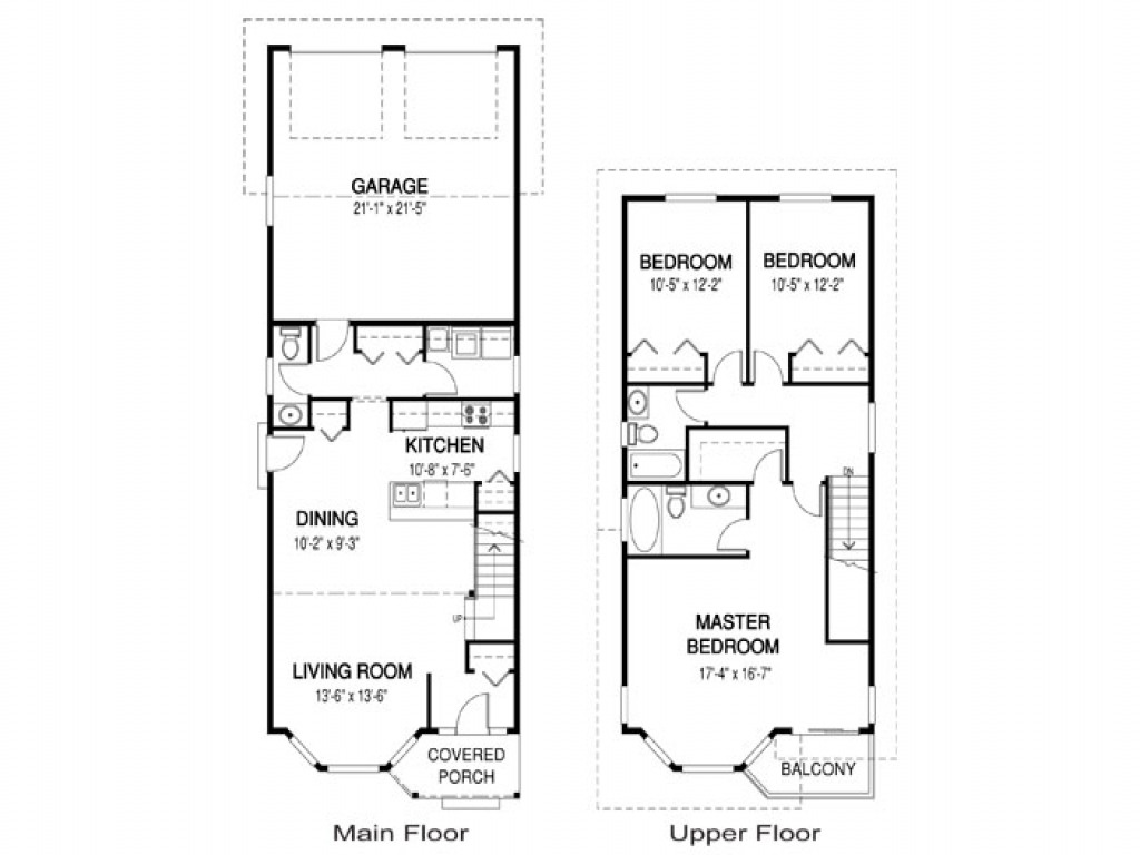 Narrow home floor plans single story narrow lot house for One story house plans for narrow lots