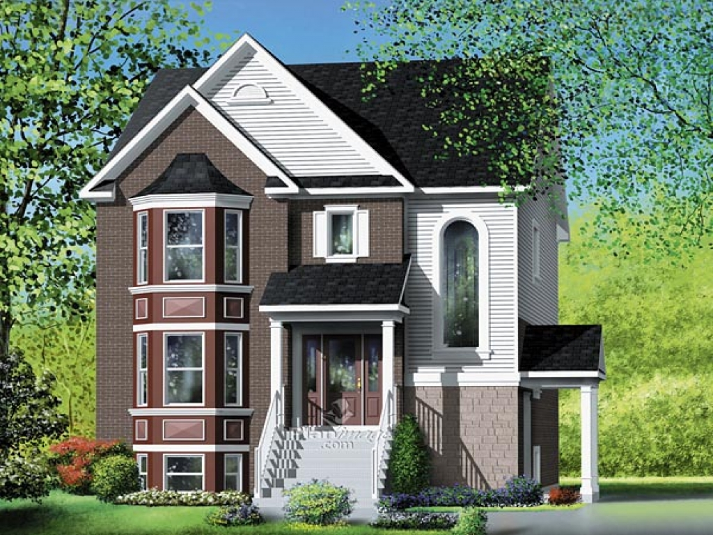 Narrow multi family house plans multi family house plans for Multifamily house plans