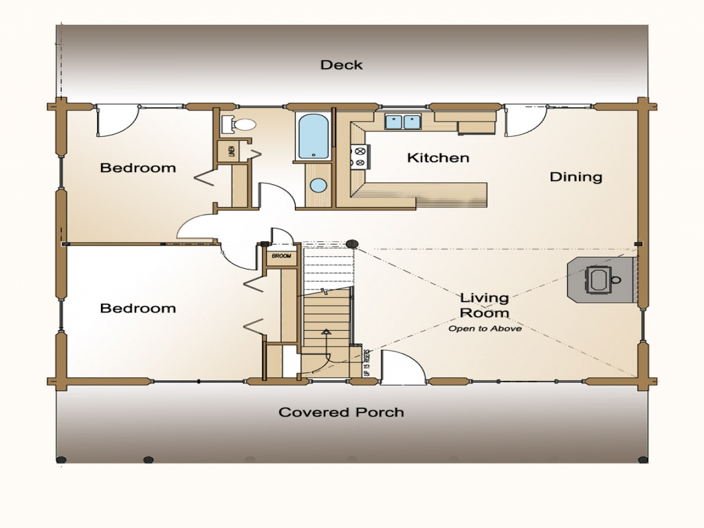 Small open concept house floor plans open concept design small kitchens open log home floor - Cabin floor concept ...