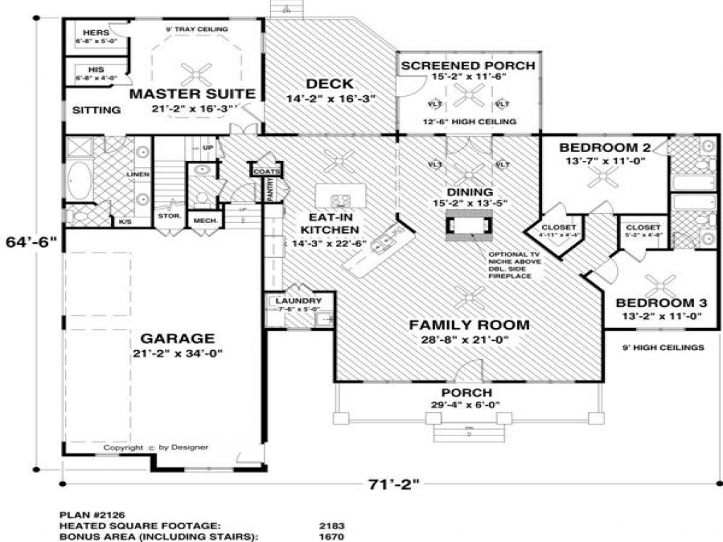 Two-Story House Plans with Rear View House Plans with View ...