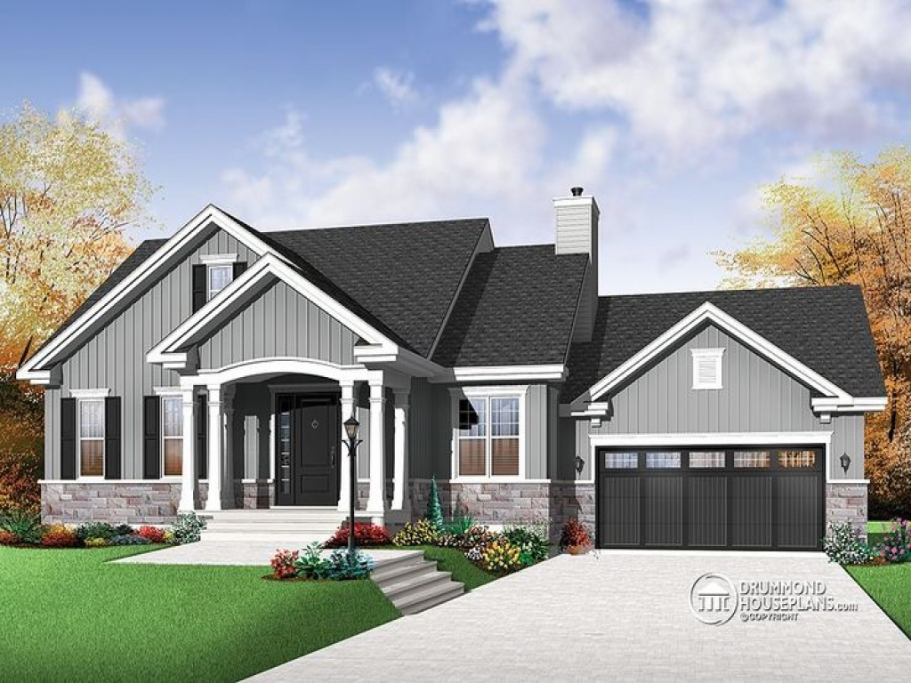 Craftsman Home Plans Open Concept Luxury Mountain