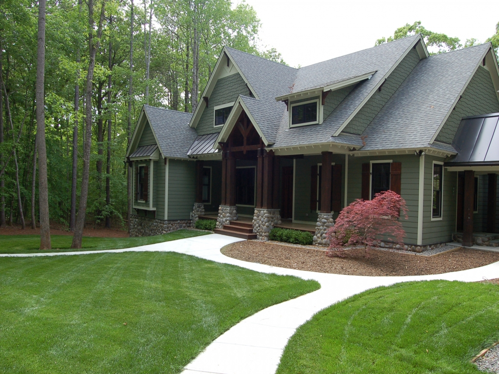 Craftsman Style Home Landscaping For Front Yard Craftsman
