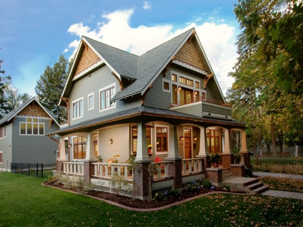 Craftsman style homes wrap around porch craftsman style for Home plans california