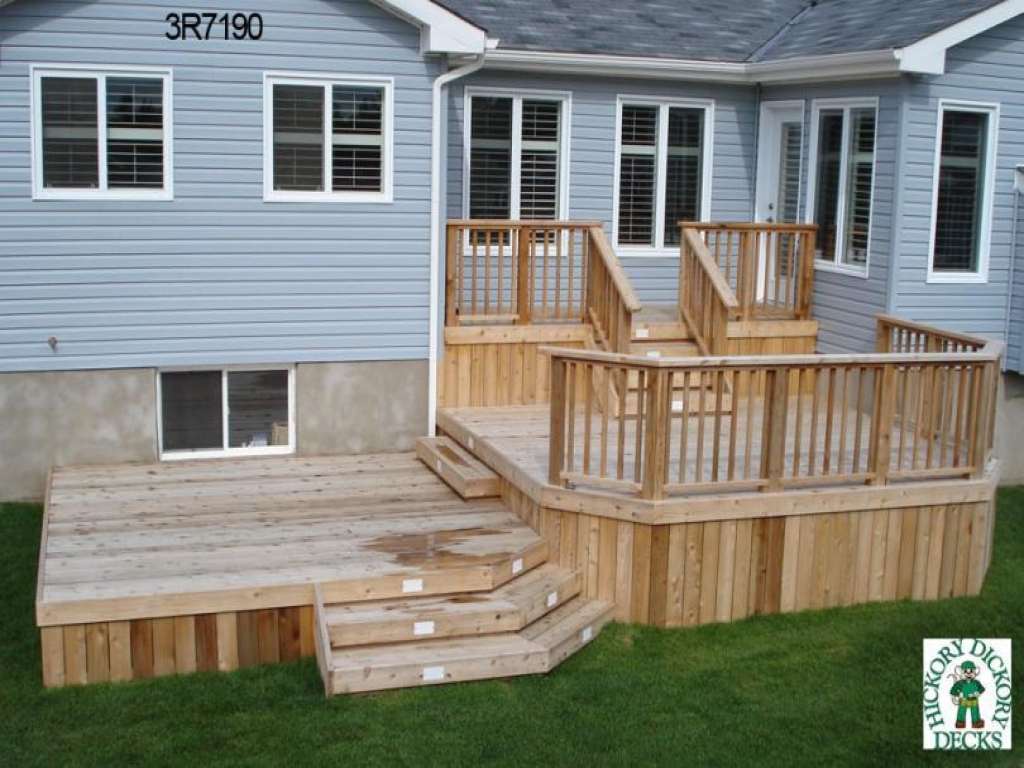 Exterior Stairs With Landing Deck