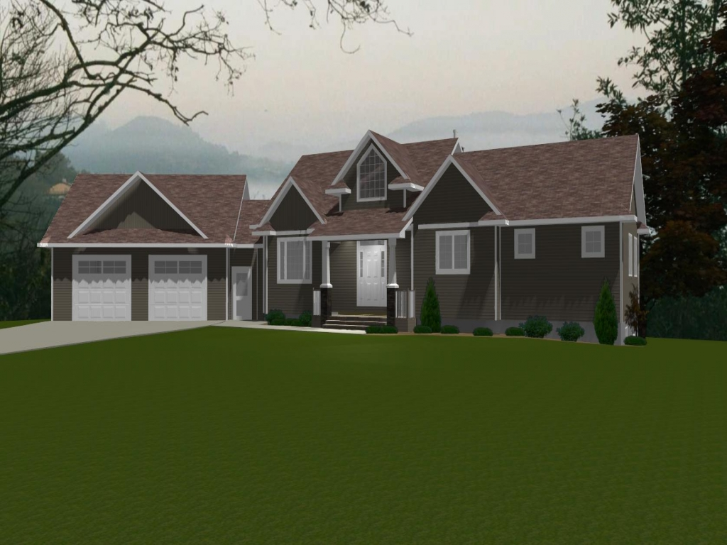 House plans with angled attached garage tasseler house for House plans no garage
