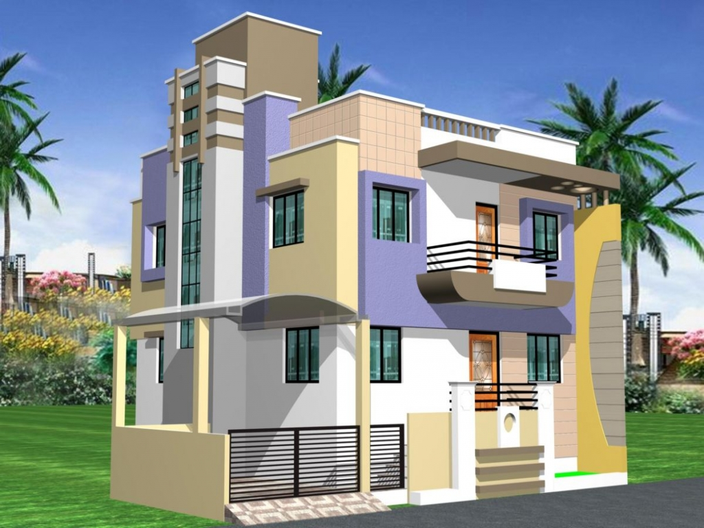 Model duplex house designs simple duplex designs plans of for Duplex designs india