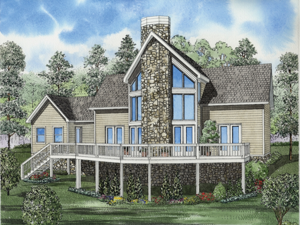 Small lake house plans lake cottage house plans house for Lake view house plans