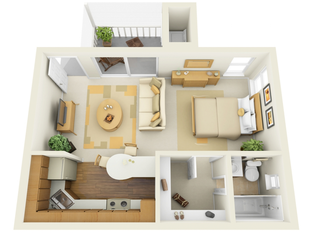 Small studio apartment living room ideas small studio for Studio layout plan