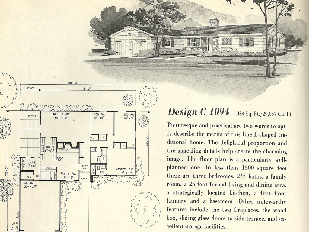 Vintage small house floor plans vintage 1960s house plans - Upload floor plan and design free ...