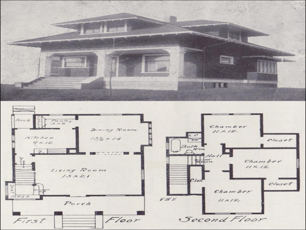 Craftsman Bungalow Style House Plans Old Craftsman