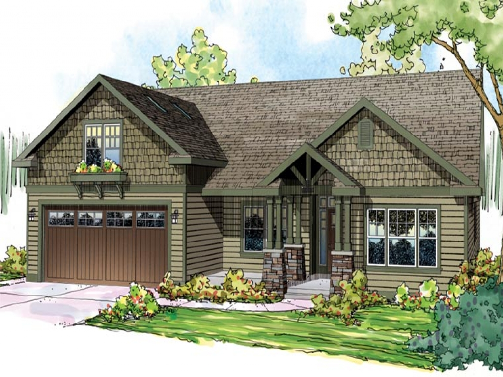 Craftsman style ranch home floor plans spanish ranch style for Ranch bungalow house plans
