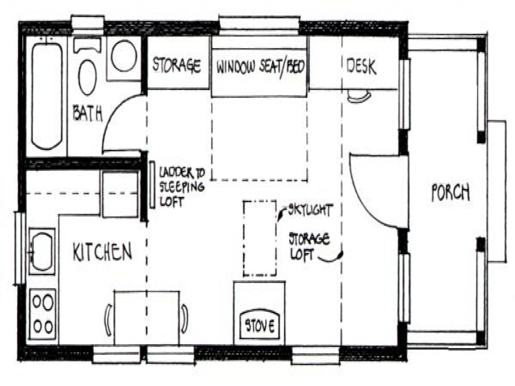 Inside tiny house interior design tiny house floor plans for Small house plans with loft