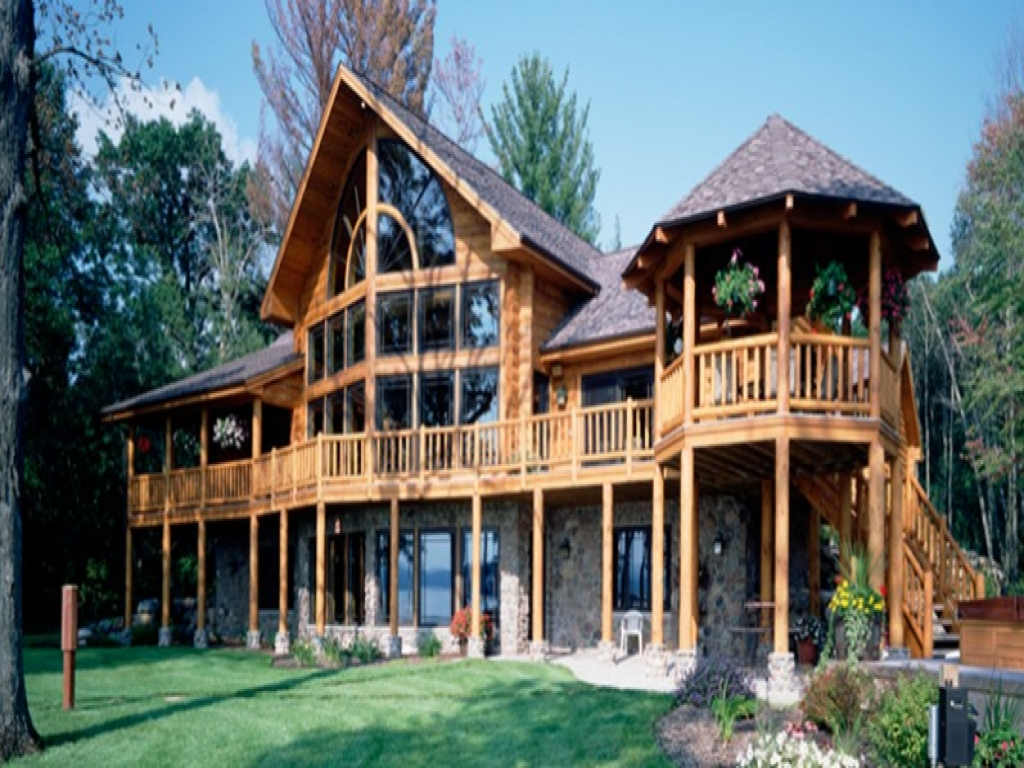 Log home floor plans log ranch home plans hybrid log home for Ranch log home floor plans