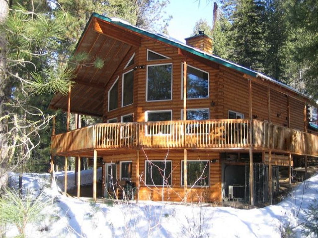 Middle fork river cabin middle fork feather river two for Two storey log cabin