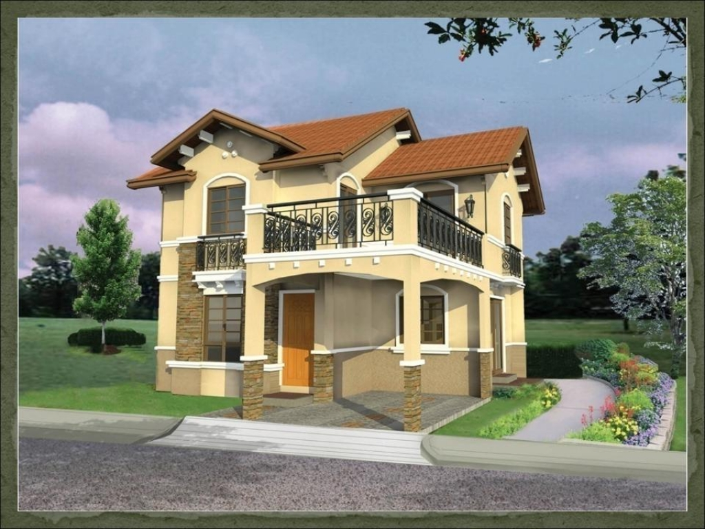 Modern house plans designs philippines affordable modern for Double storey beach house designs