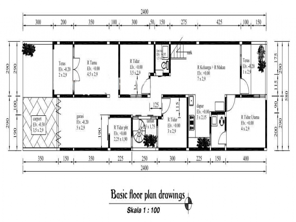 Simple 1 bedroom house plans simple house floor plan for Simple floor plan drawing