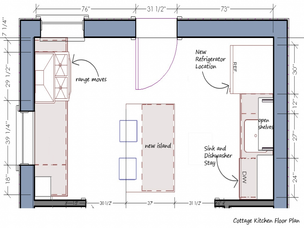 Small Kitchen Floor Plan Kitchen Floor Plans And Layouts