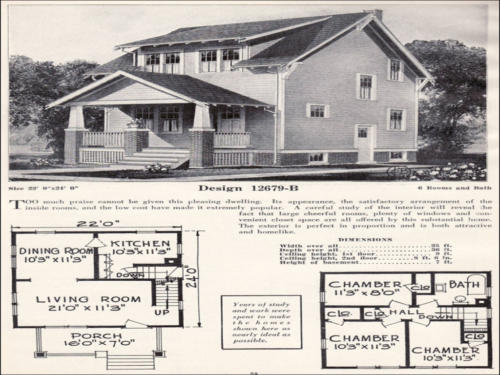 1920s craftsman bungalow house plans 1920 craftsman for Craftsman bungalow house plans 1930s