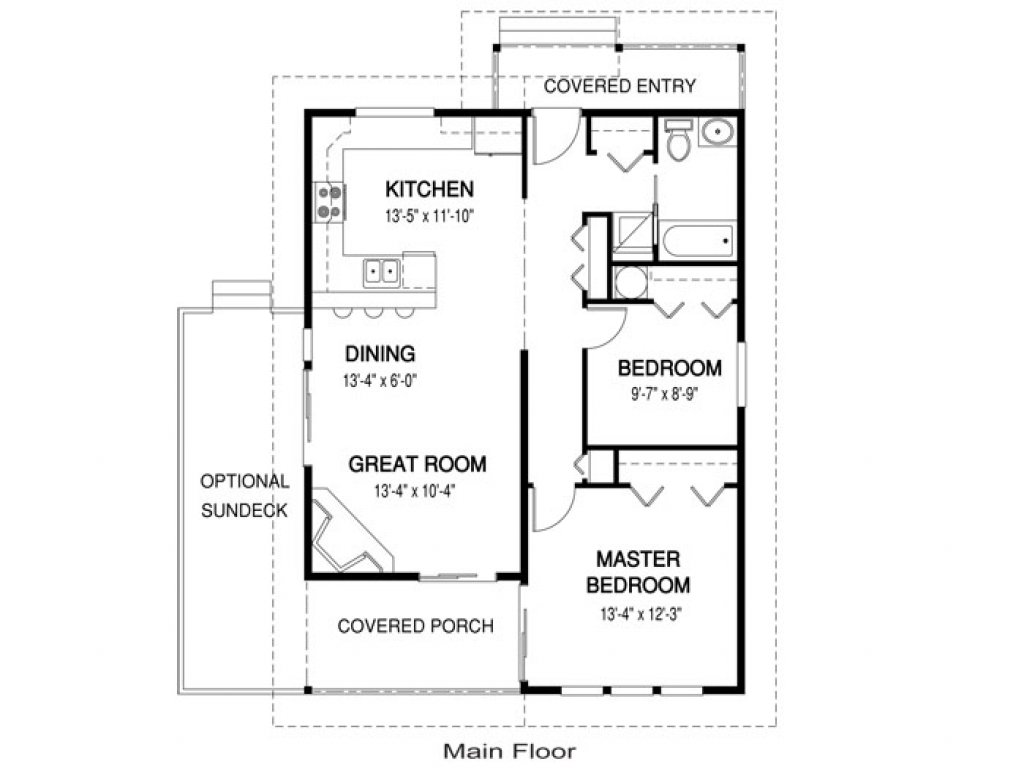 Guest house plans under 1000 sq ft guest house plans with for 1000 sq ft apartment plans