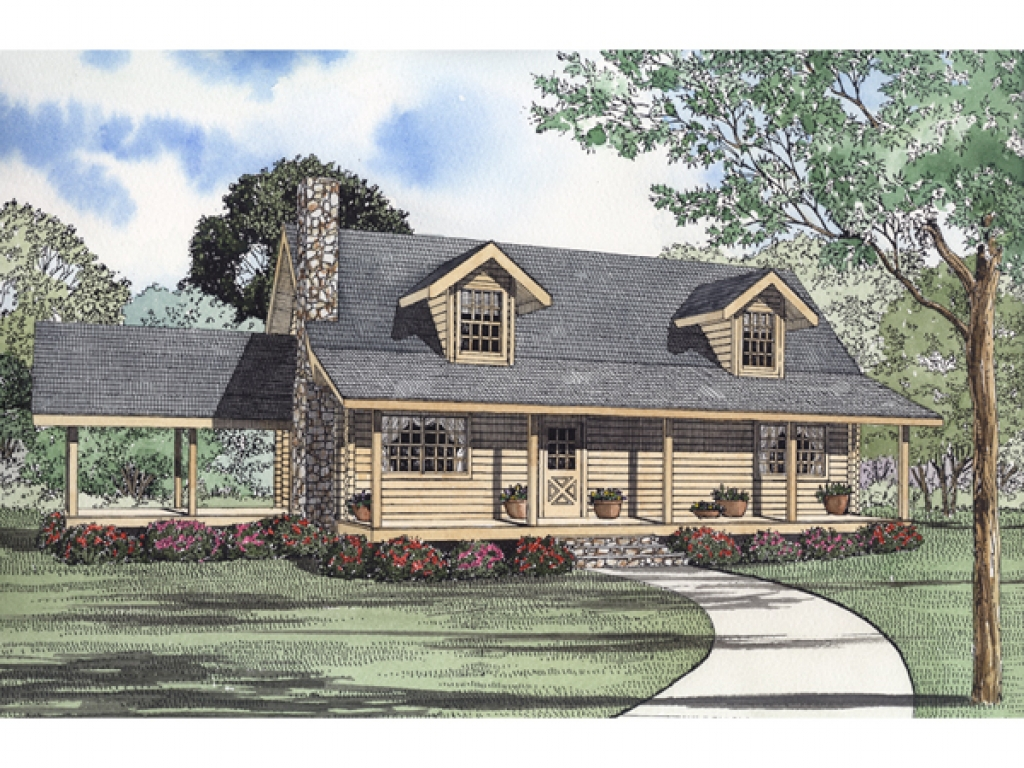 Heiden Country Log Home Plan 073d 0027 House Plans And