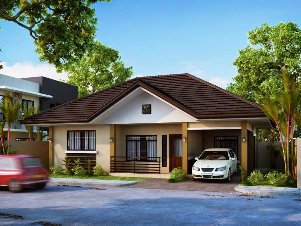 Modern bungalow house plans bungalow house plans with for Bungalow garage