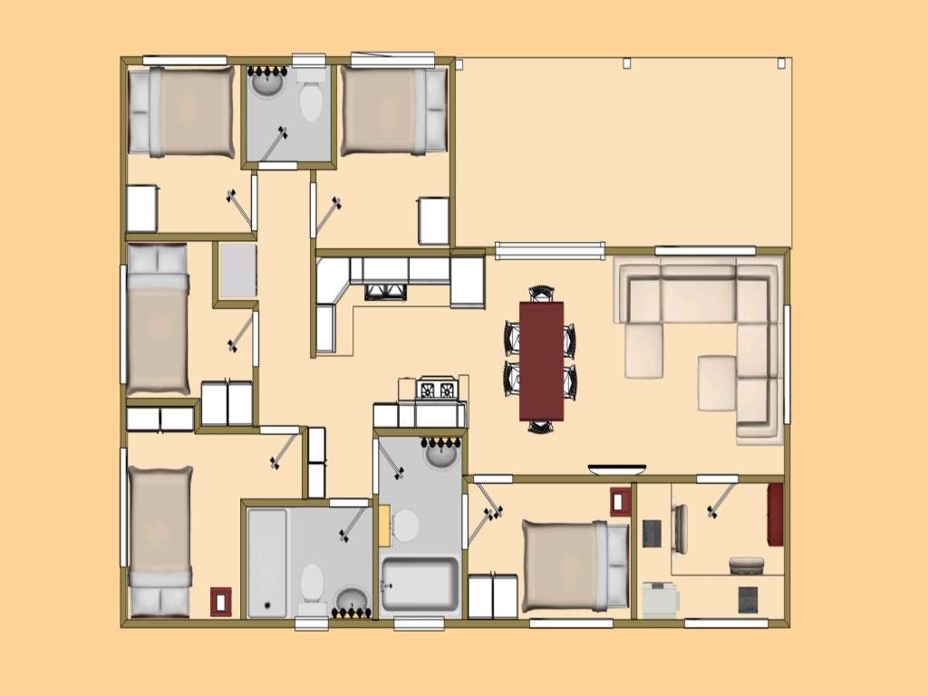 Small cottage house plans small home plans under 800 sq ft for House plans below 800 sq ft