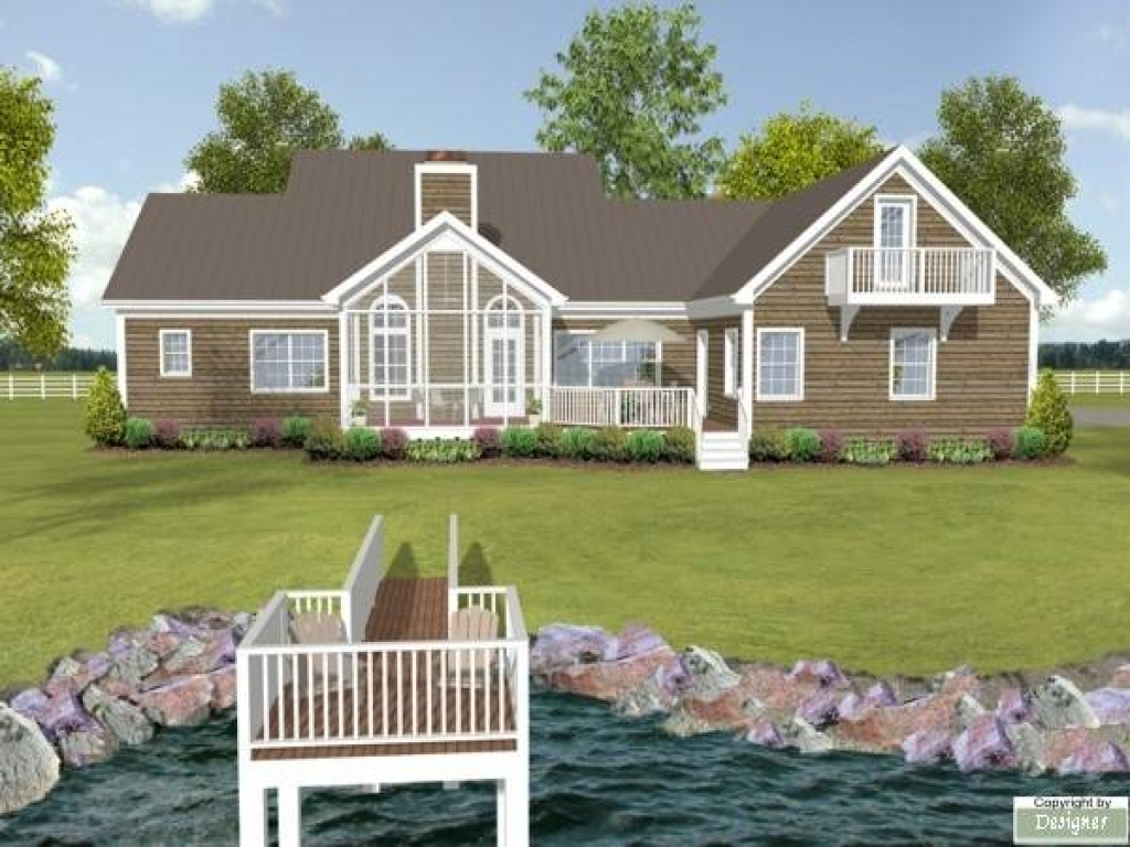 Lake house plans with rear view lake house plans with rear for Lake view home plans