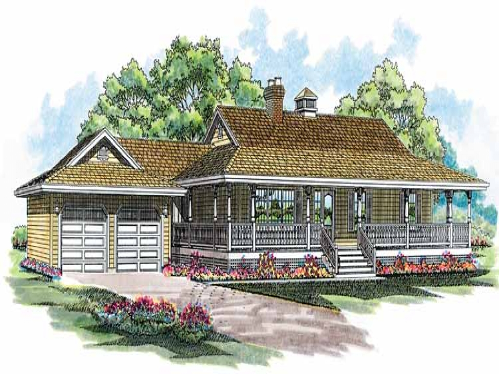Wrap Around Porch House Plans One Story