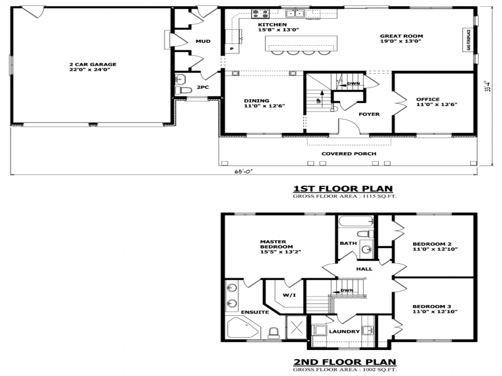 Simple two story house plans two storey house plans for Two storey house plans canada