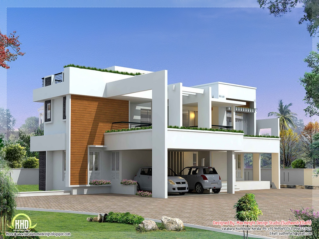 Unique modern house plans modern contemporary house plans for Custom modern home plans