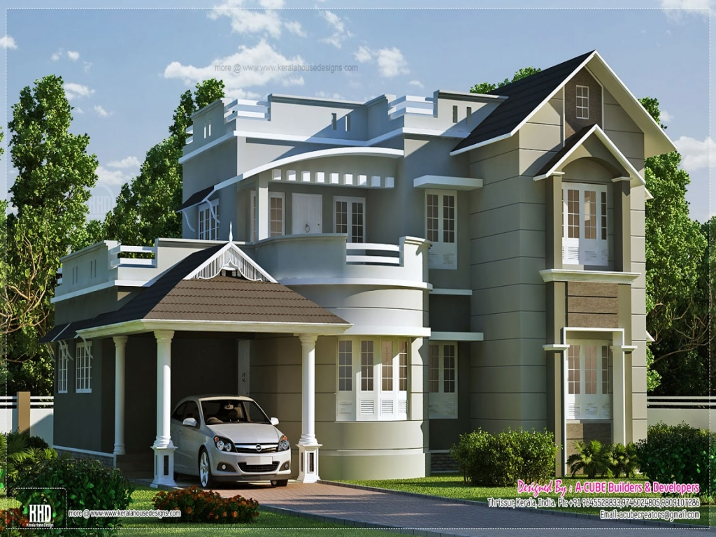 Newest home plans new home design plans new style house for New style home design