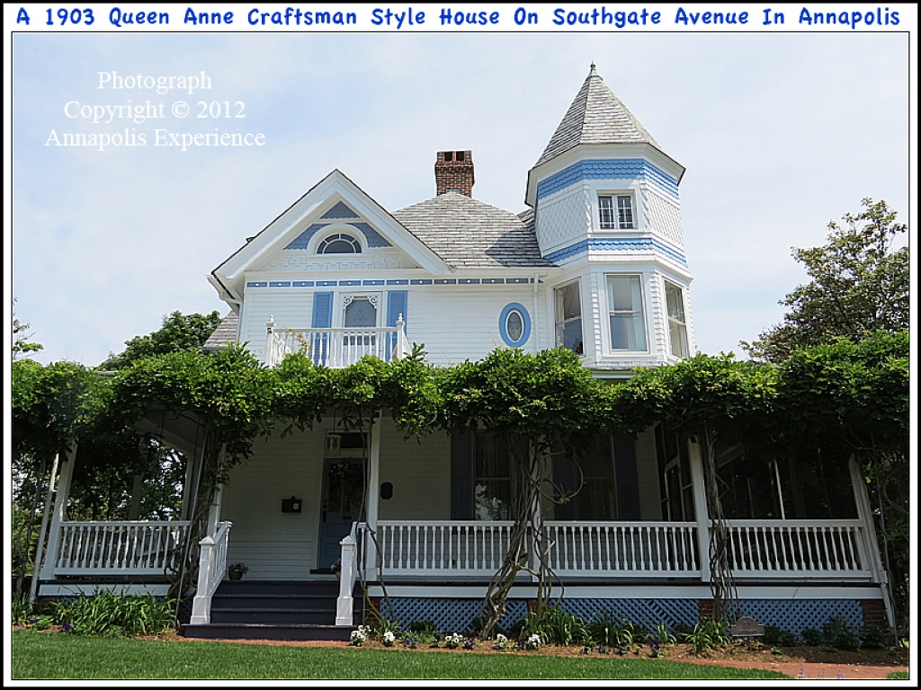 Queen anne craftsman style homes queen anne architecture for Ranch style homes in maryland