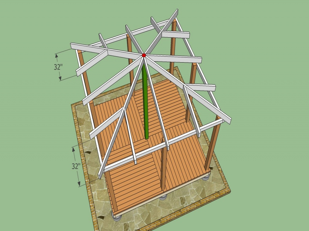 Wooden Gazebo Roof Plans Gazebo Plans Step By Step Square