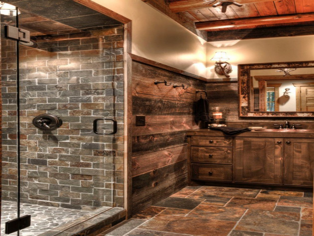 Rustic Tin Showers Cabin Bathroom Shower Log Designs Treesranch