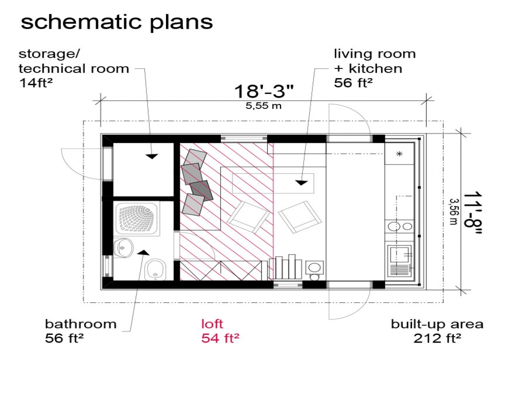 Small cottage house floor plans small cottage house plans for Micro cottage floor plans