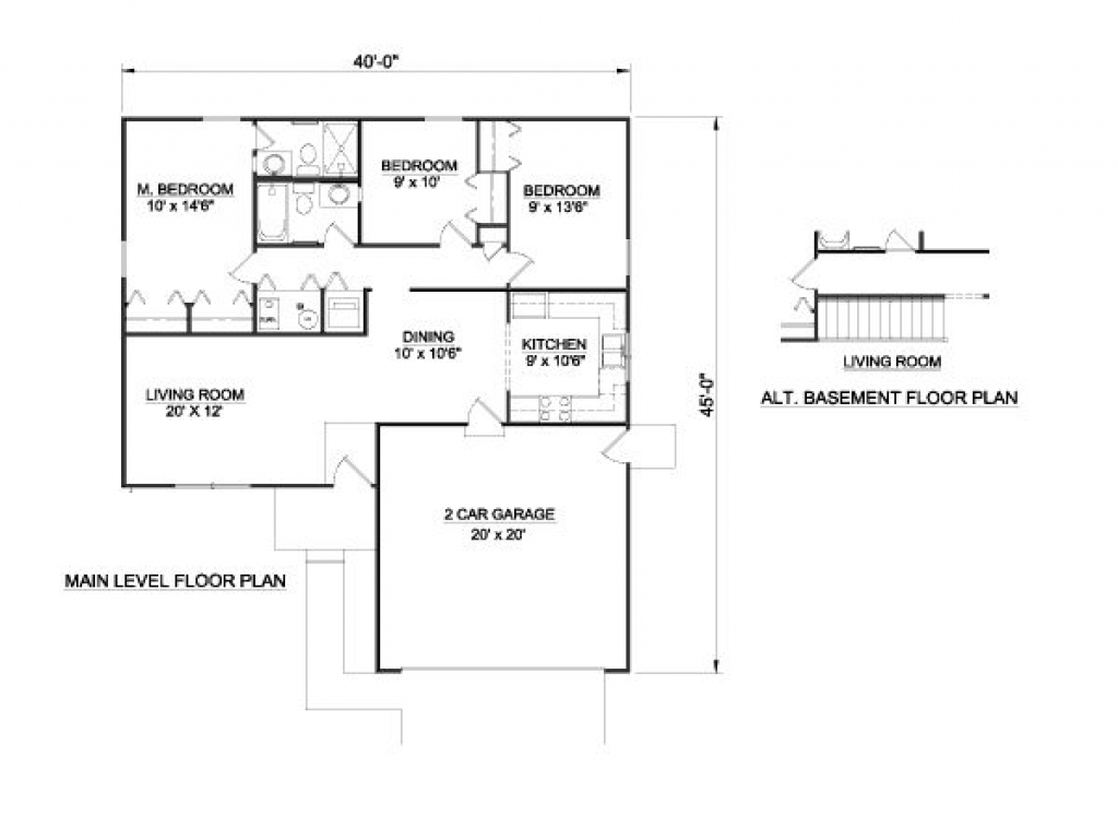 1100 square foot house plans 3 bedrooms house plans 1100 for 1100 sq ft ranch house plans