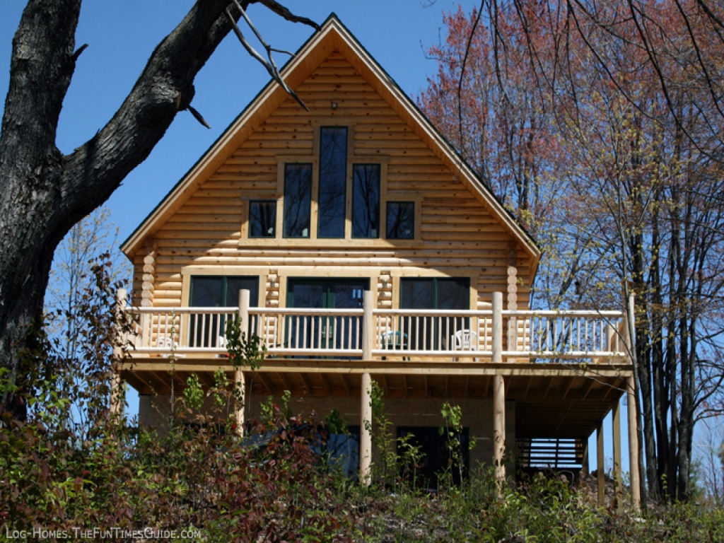 Log home plans with walkout basement open floor plans log for Homes with walkout basement