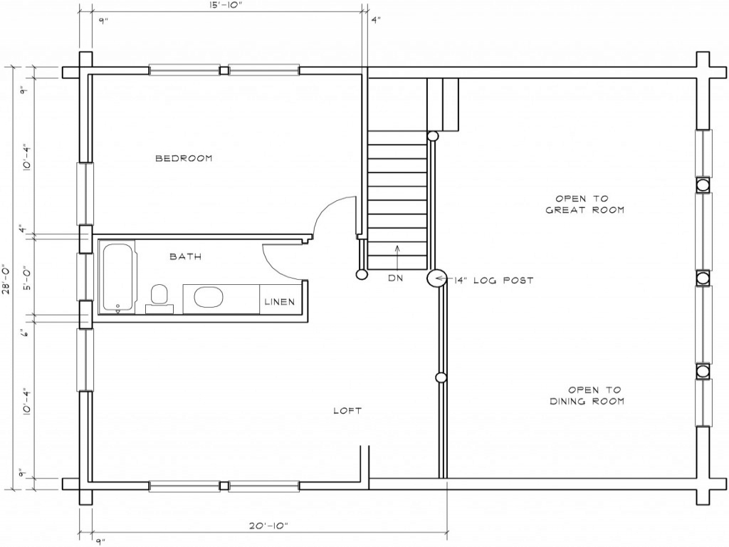 Log cabin floor plans with loft little log cabins floor for Log cabin floor plans with loft