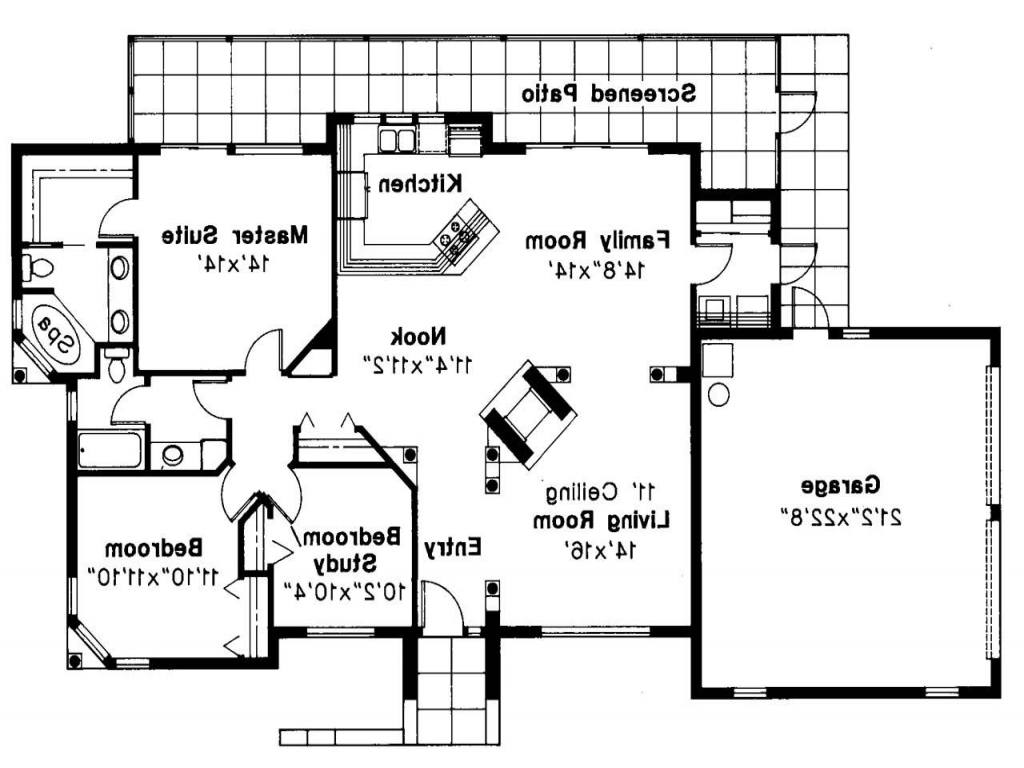 Mediterranean house plan carrizo 11 010 floor plan open for Open floor house plans