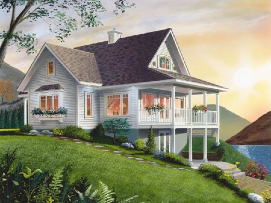 Small lake house decorating small lake cottage house plans for Lakeview cottage house plan
