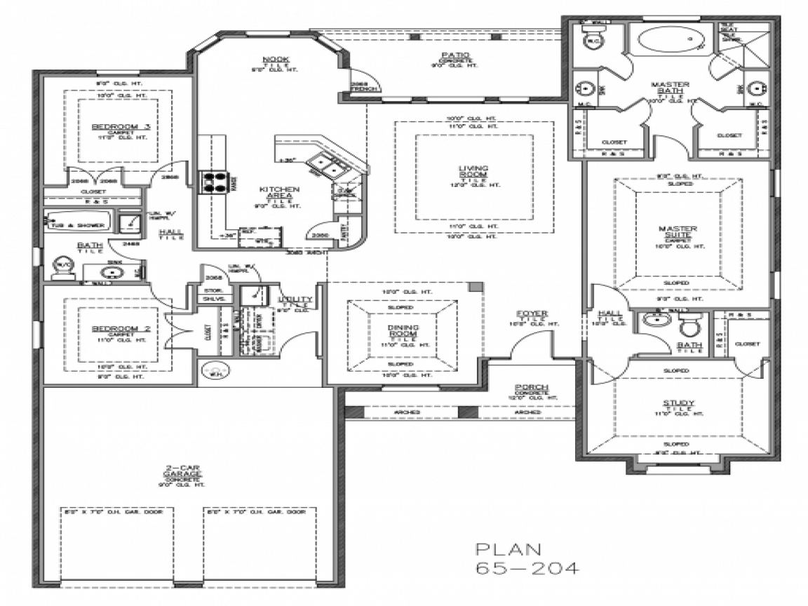 Split bedroom floor plans home plans with split bedrooms for Ranch home floor plans split bedrooms