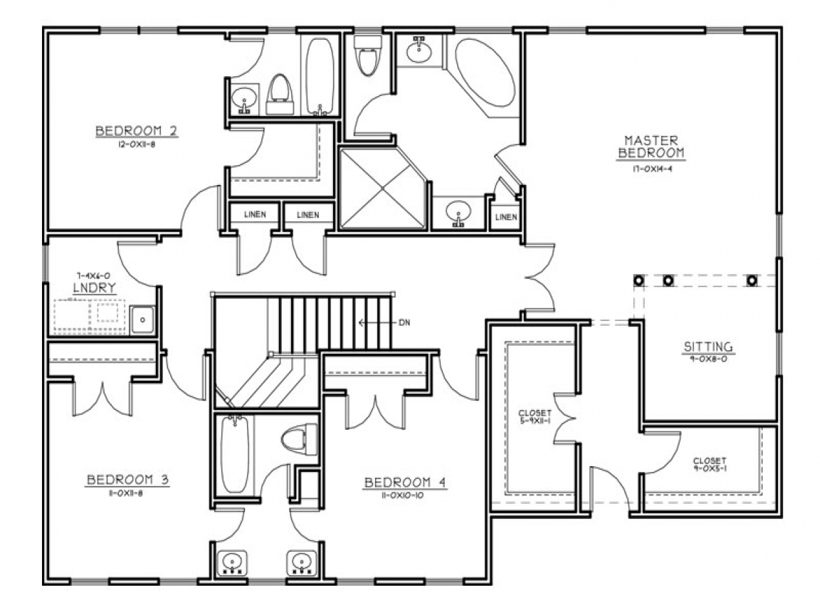 Center hall colonial house plans center hall colonial for Colonial house blueprints