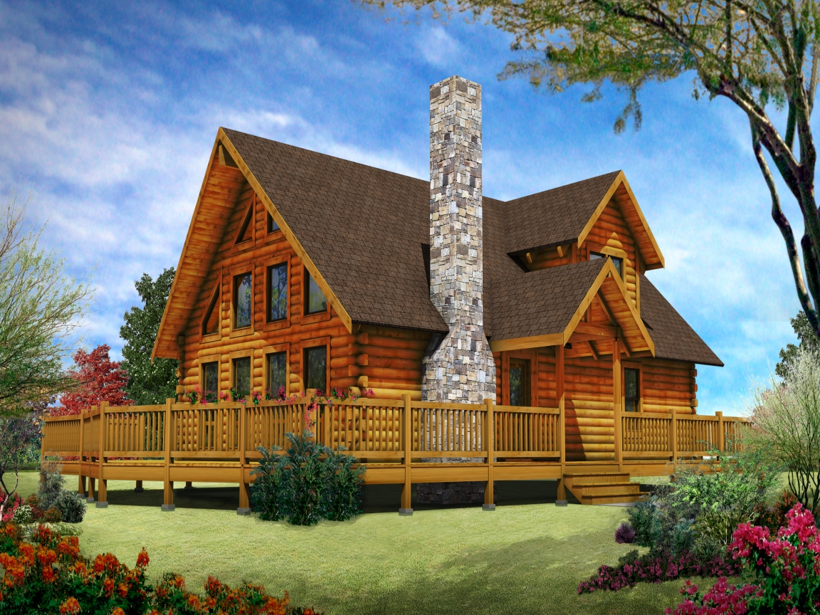 Luxury log cabin home designs custom log homes log home for Unique log cabin designs