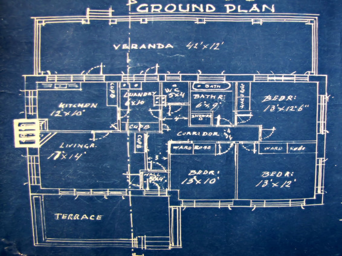 Old Architectural Blueprints Old Architectural Plan