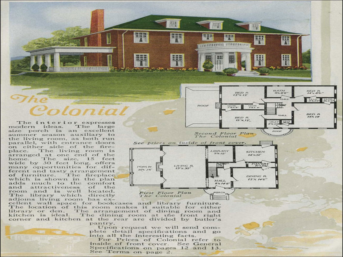 2 Story House Floor Plans Antique Colonial House Plans