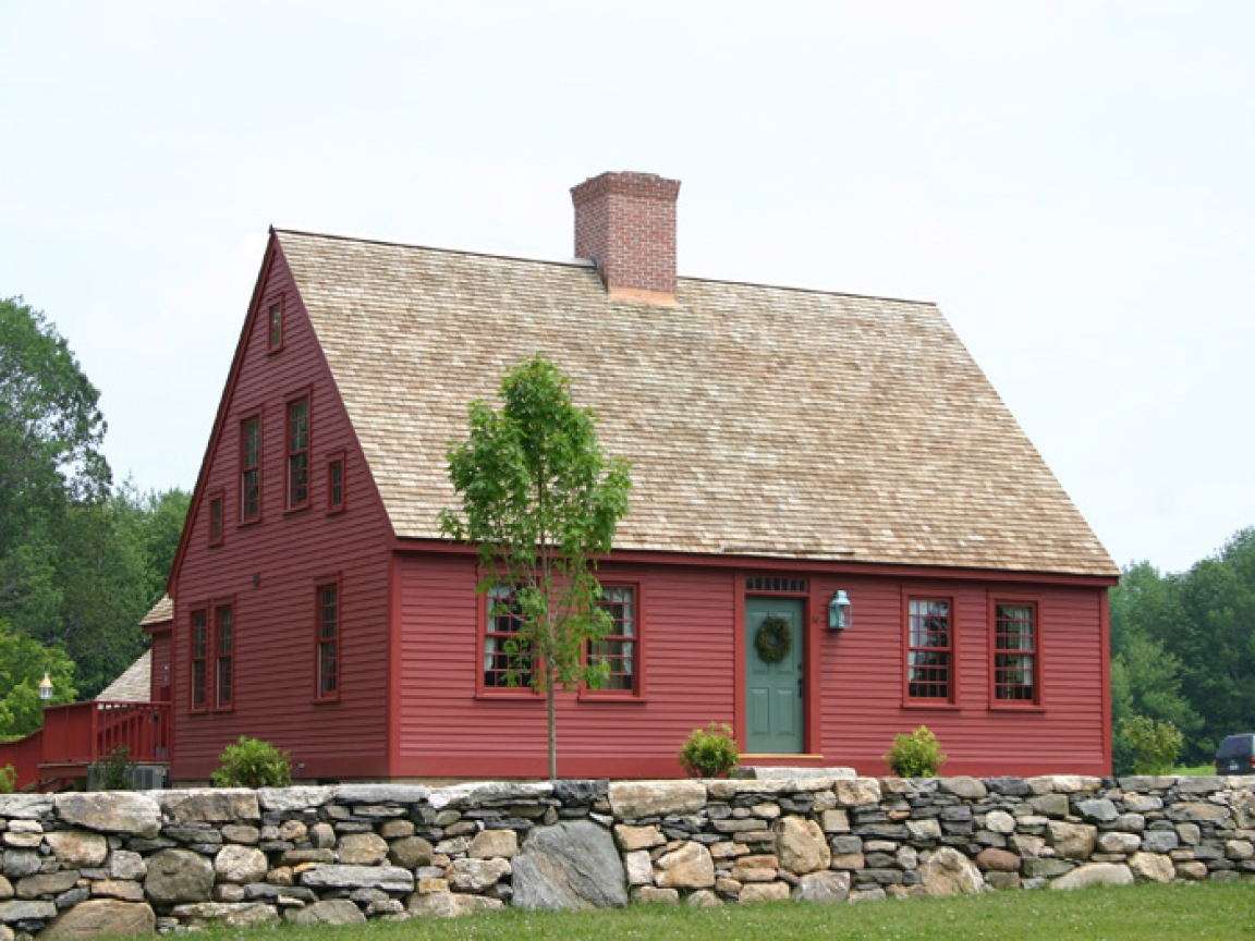Cape cod colonial house new england cape house plans for for Colonial farmhouse plans