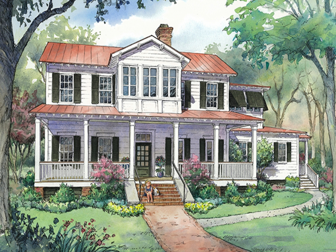 New southern living vintage lowcountry house plans country for Southern low country home plans